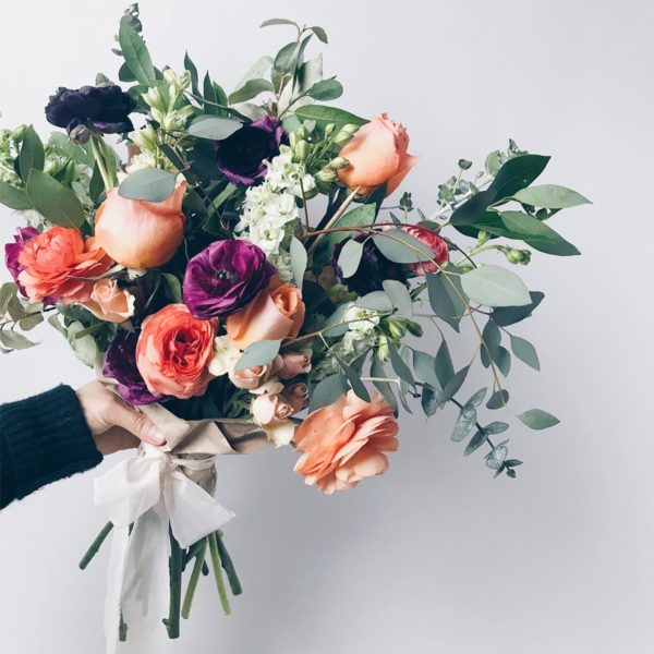 A bouquet of California-grown flowers put together by Bloom and Bloomonade of Sacramento.