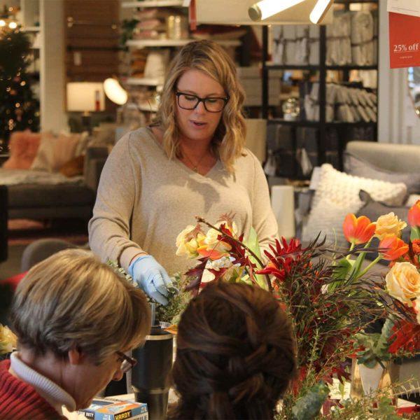 A Bloom Sacramento fall centerpiece workshop.