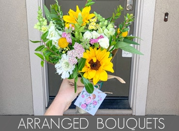 Arranged bouquets