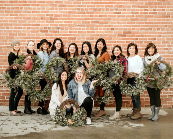 DIY wreath workshop organized by Bloom Sacramento