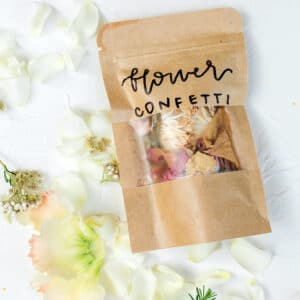 Dried flower confetti from Bloom Sacramento