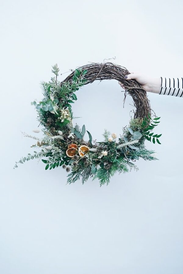DIY wreath created by Bloom Sacramento
