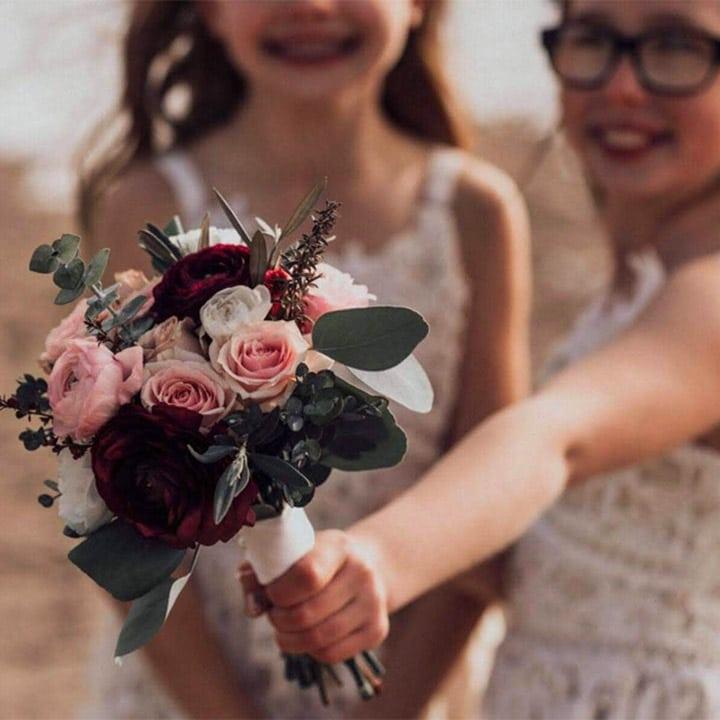 Mini wedding bouquet by Bloom Sacramento